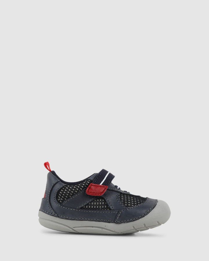 Shoes and Sox Billy B Navy/Red