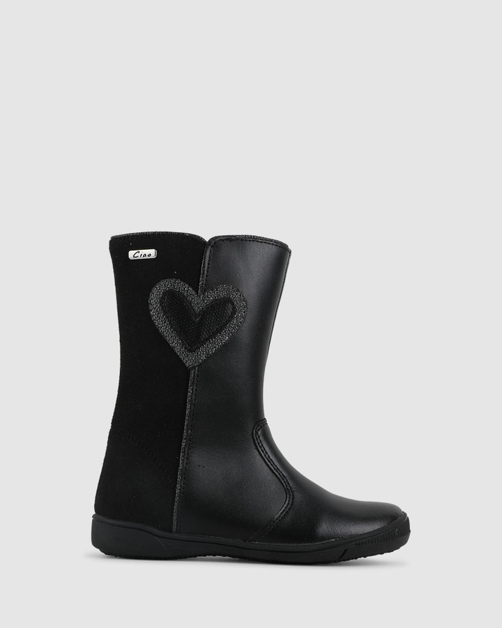 Shoes and Sox Gracey Heart Boot Black