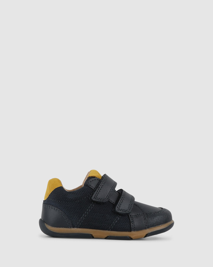 Shoes and Sox Bounce B Navy/Mustard
