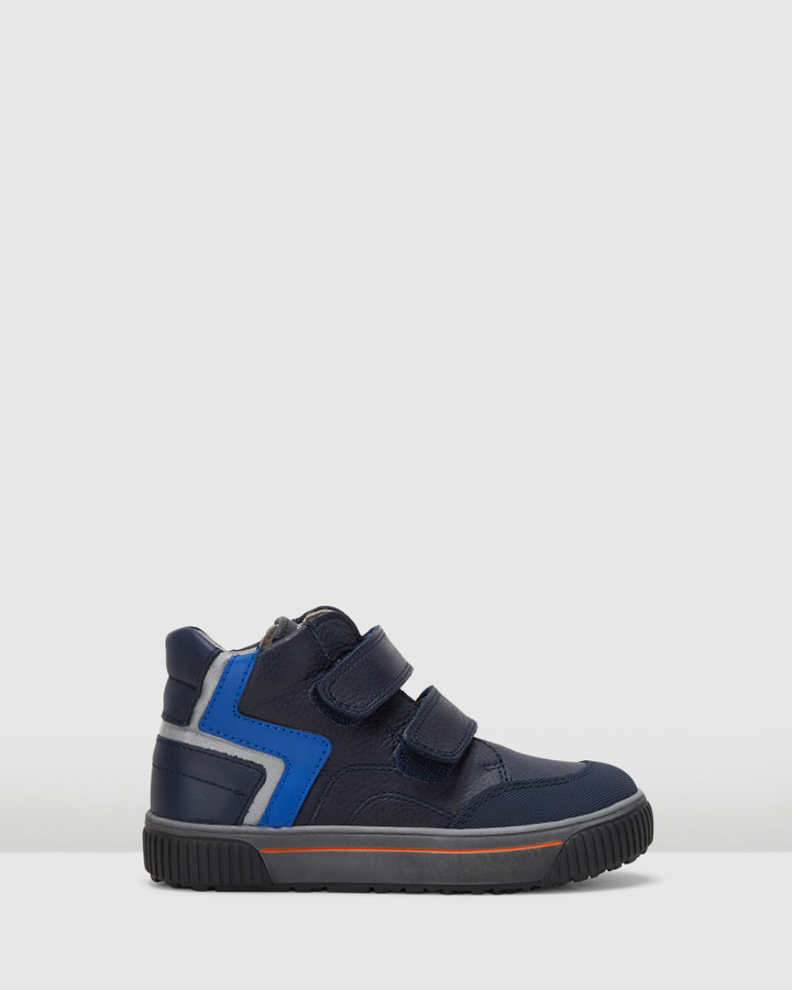 Shoes and Sox Sf Zig Zag Boot B 5927 Yth Navy/Blue