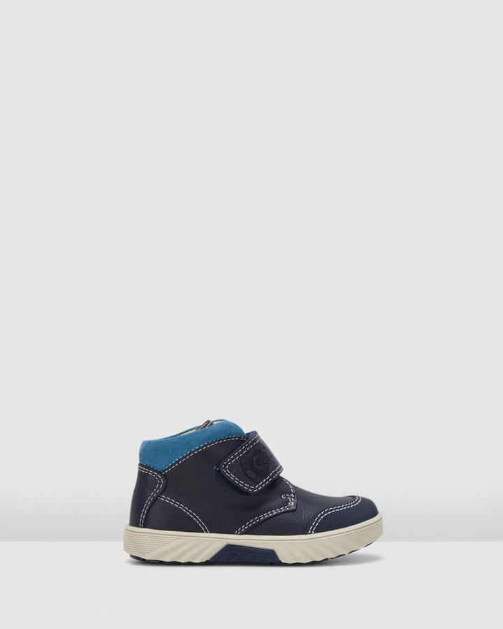 Shoes and Sox Sf Strap Boot B 593521 Yth Navy