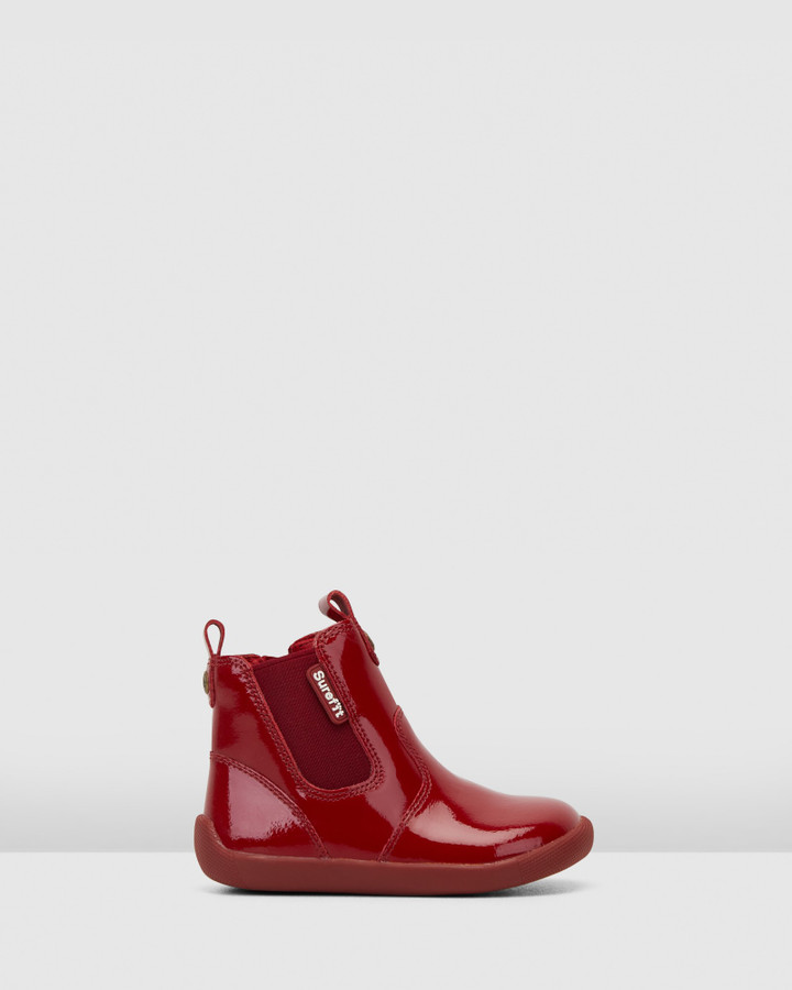Shoes and Sox Mani Ii Boot G Red Patent