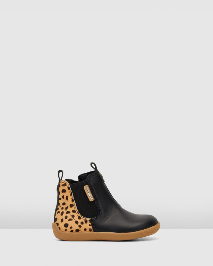 Shoes and Sox Mani Leopard Boot G Black Leopard