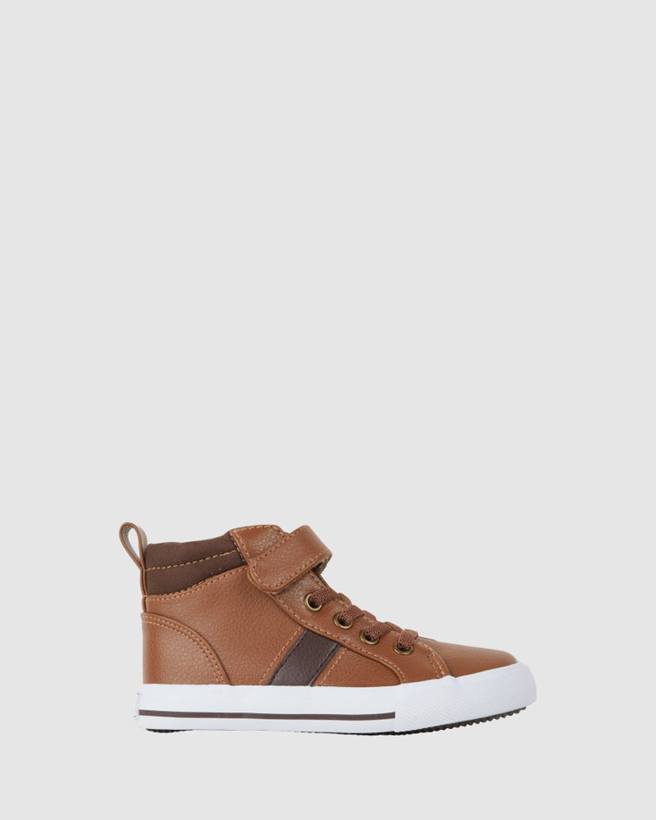 Shoes and Sox Maverick Hi Top Tan