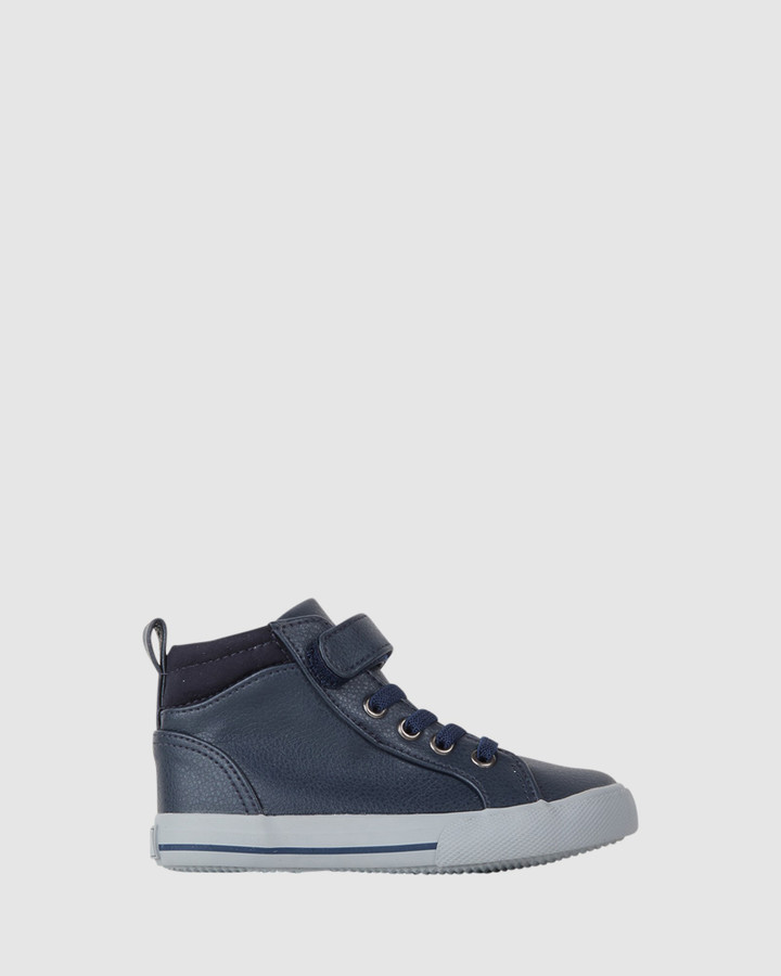 Shoes and Sox Maverick Hi Top Navy