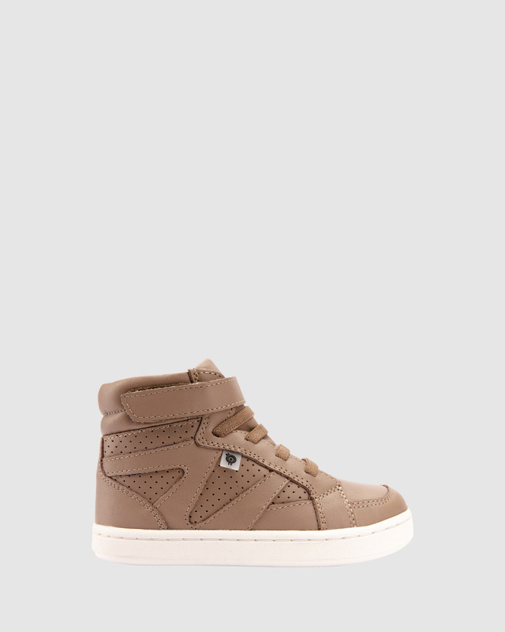 Shoes and Sox Urban Starter Shoe B Taupe/White