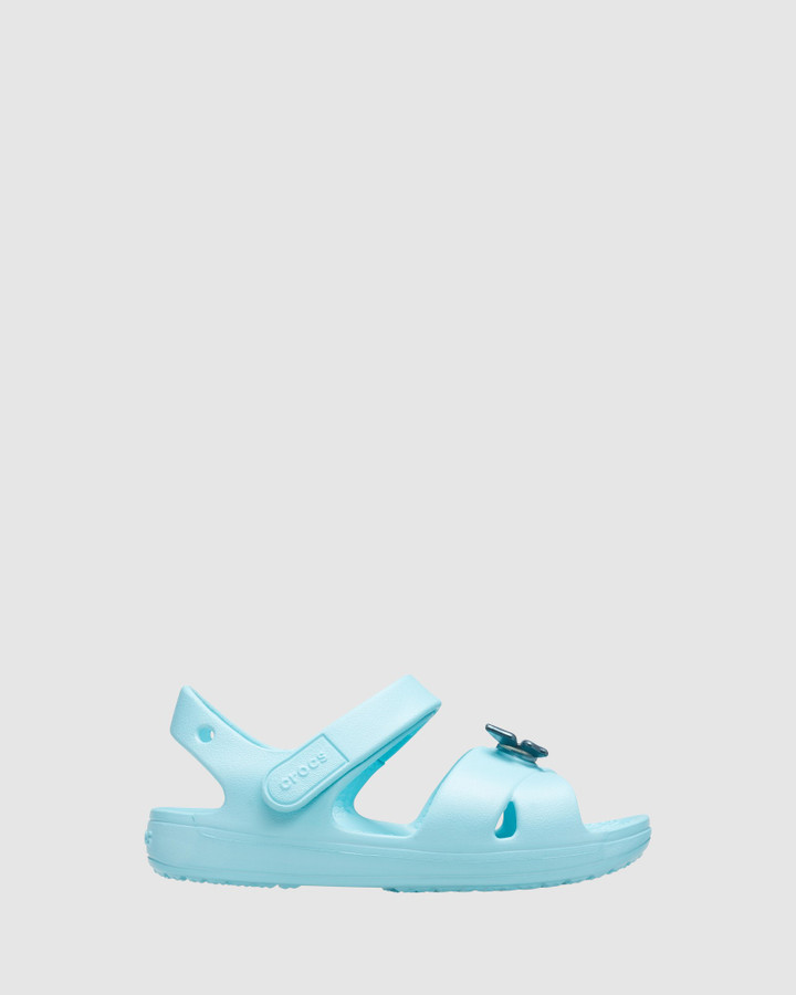 Shoes and Sox Classic Cross Strap Sandal Ice Blue