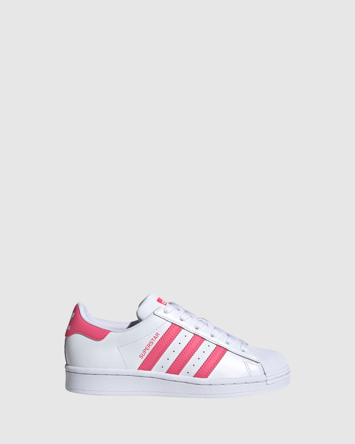 Shoes and Sox Superstar Foundation Gs G White/Super Pink