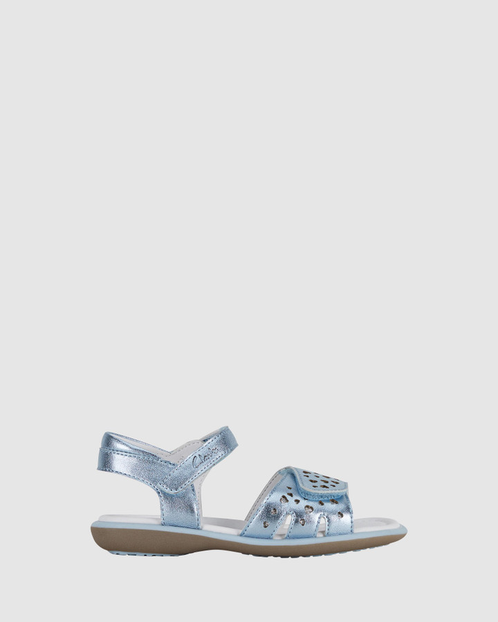 Shoes and Sox Pippy Blue Metallic