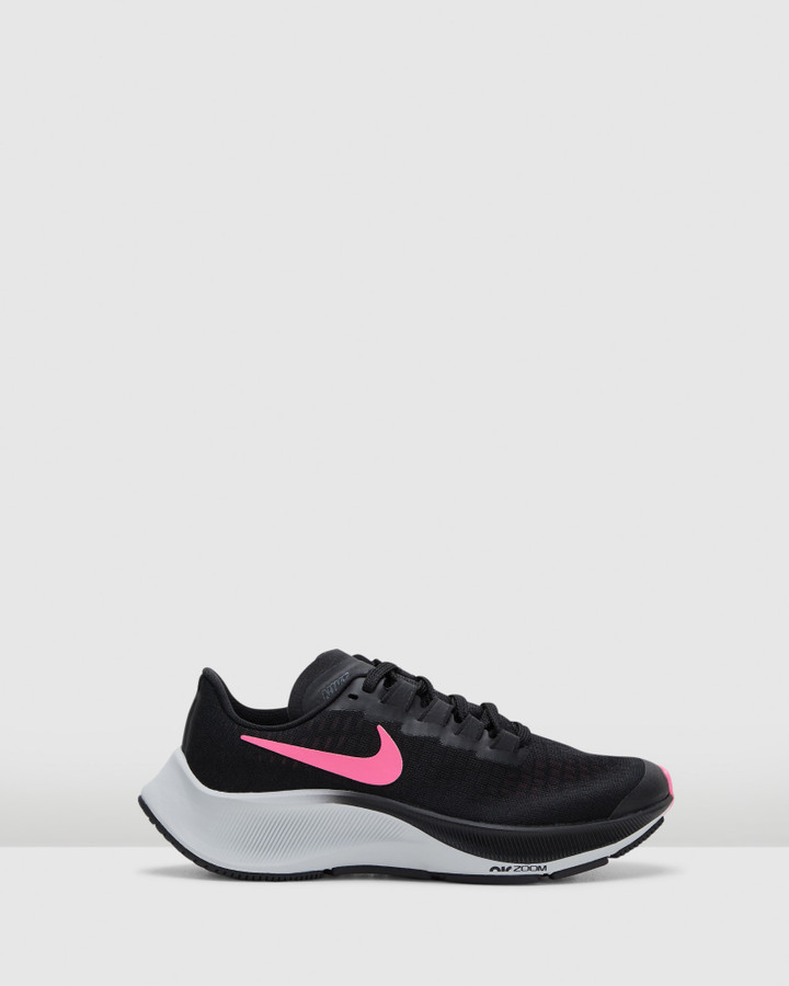 Shoes and Sox Air Zoom Pegasus 37 Gs G Black/Pink Glow