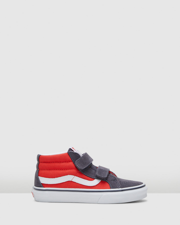 Shoes and Sox Sk8 Mid V 2 Tone Yth B Grey/Red