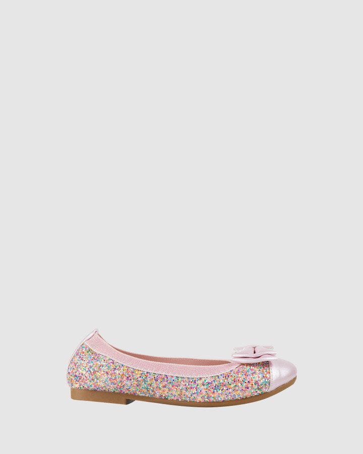Shoes and Sox Charm Sprinkles Ballet Pink Multi