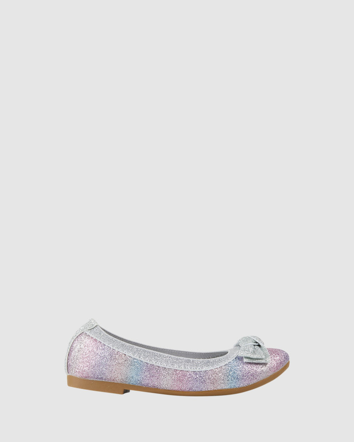 Shoes and Sox Keely Gradient Ballet Silver Multi