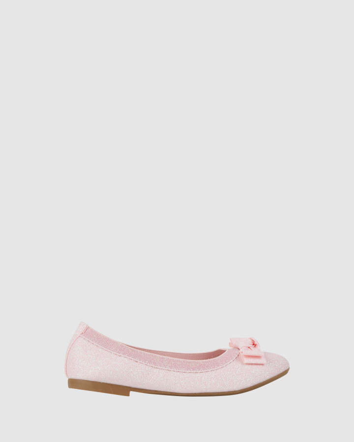 Shoes and Sox Keely Shimmer Ballet Light Pink