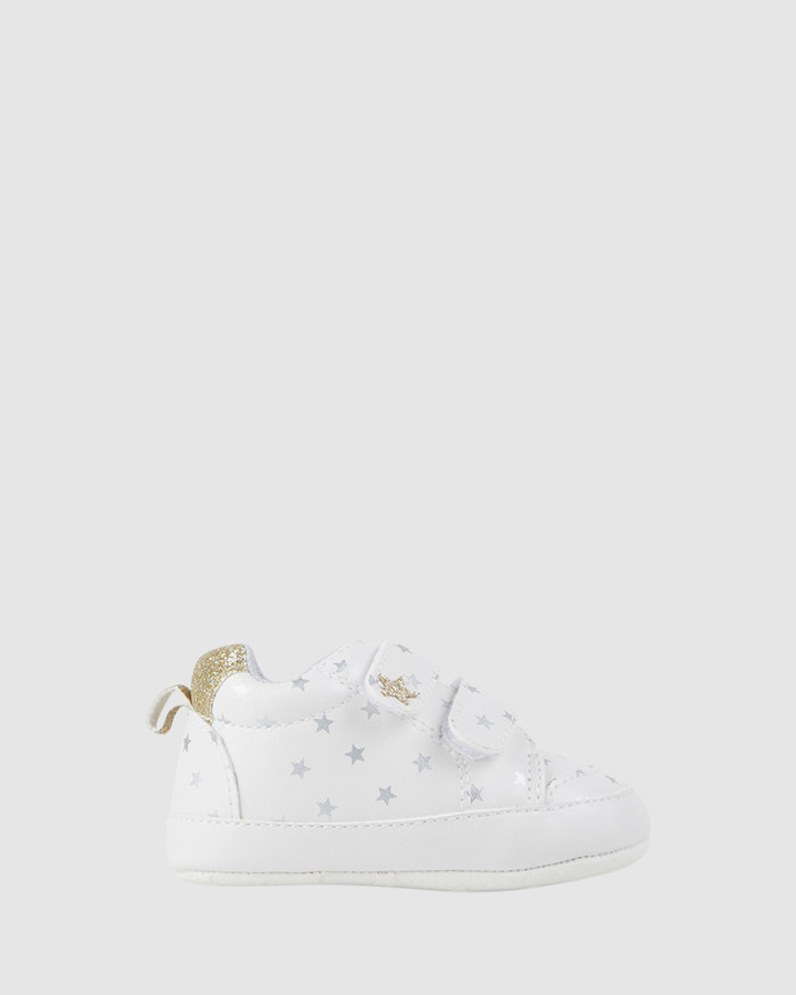 Shoes and Sox Kassidy Sneaker White/Gold
