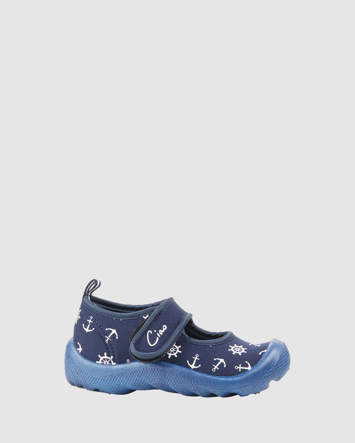 Shoes and Sox Beach Anchor B Navy/White