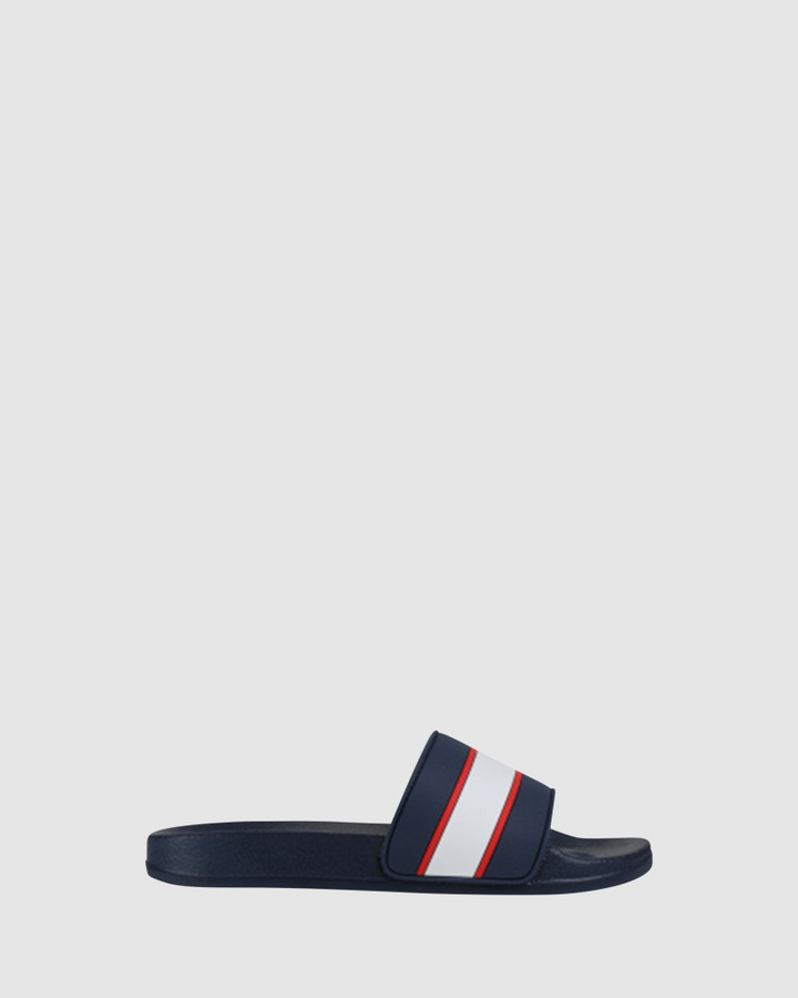 Shoes and Sox Kai Sport Slide Navy/Red/White