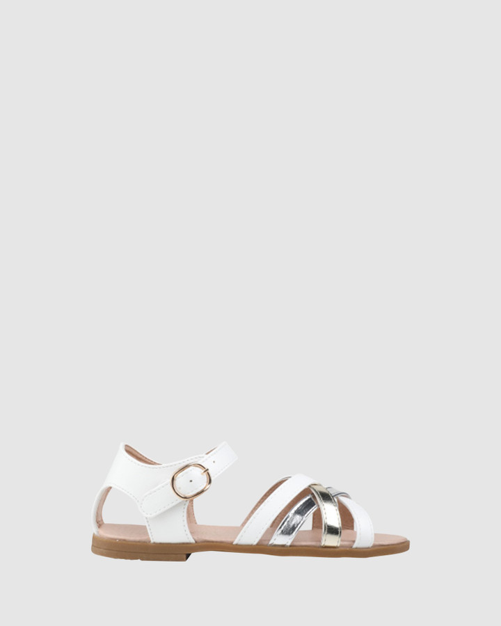 Shoes and Sox Celine White/ Metallic