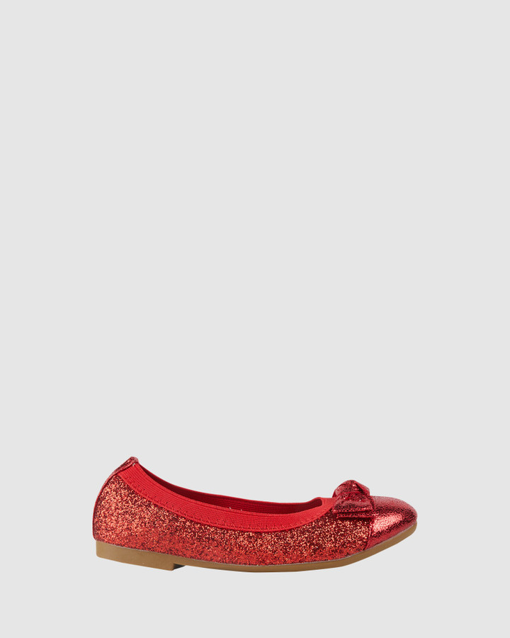 Shoes and Sox Charm Ballet Red