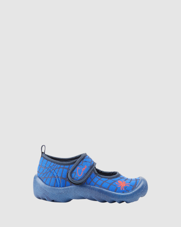 Shoes and Sox Beach Spiderweb B Blue/Red