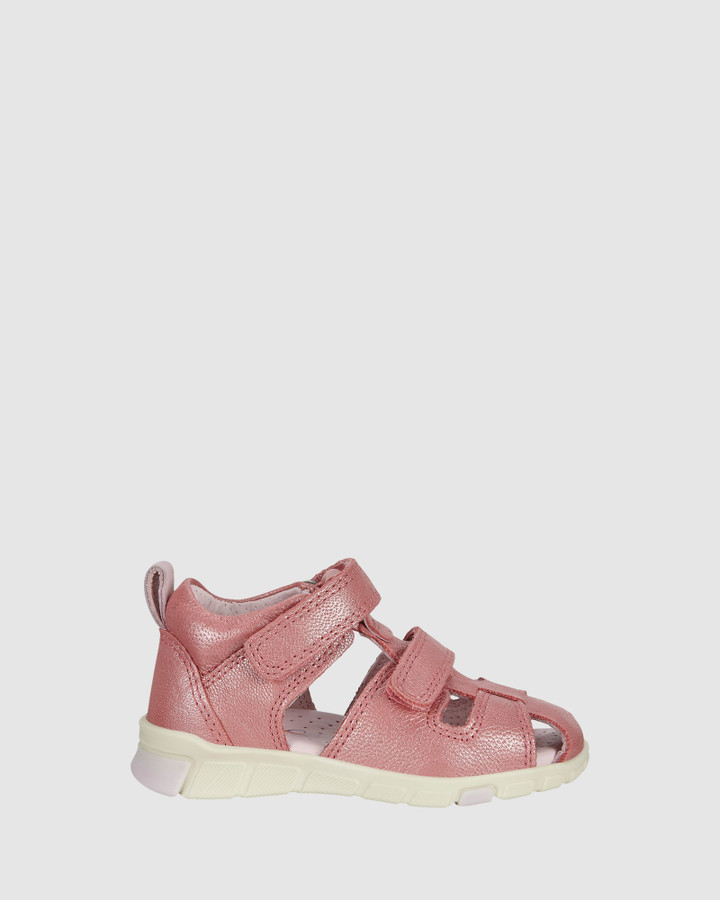 Shoes and Sox Mini Stride Sandal Cage G Bubblegum