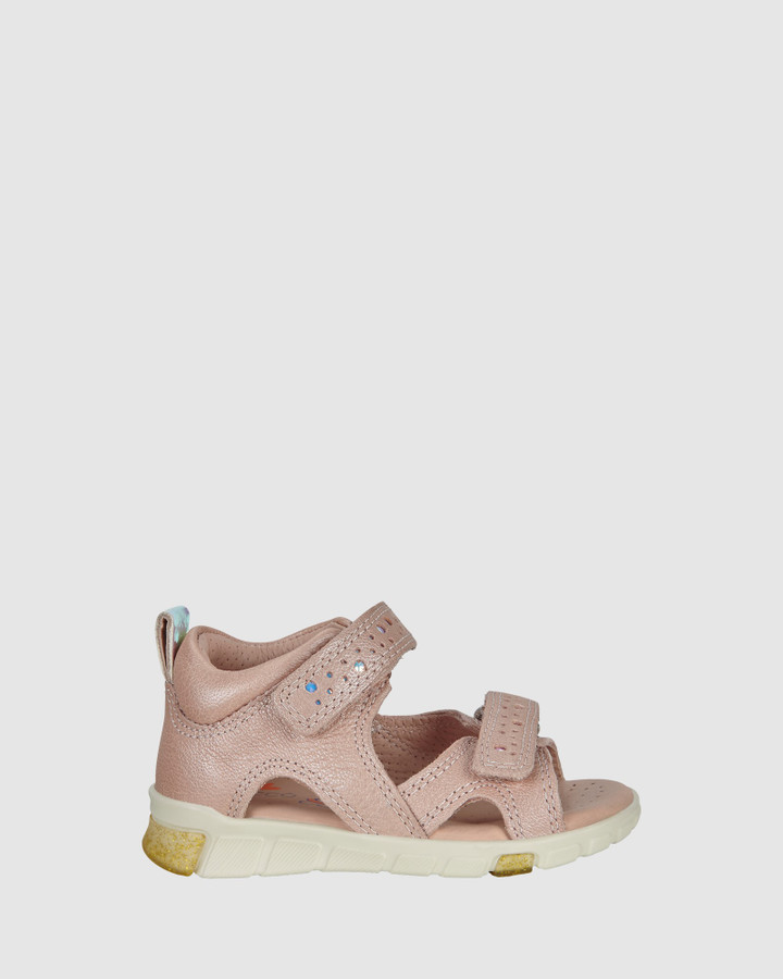 Shoes and Sox Mini Stride Sandal Open G Rose Dust
