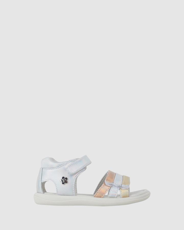 Shoes and Sox Jane Metallic Straps Inf G Silver Multi