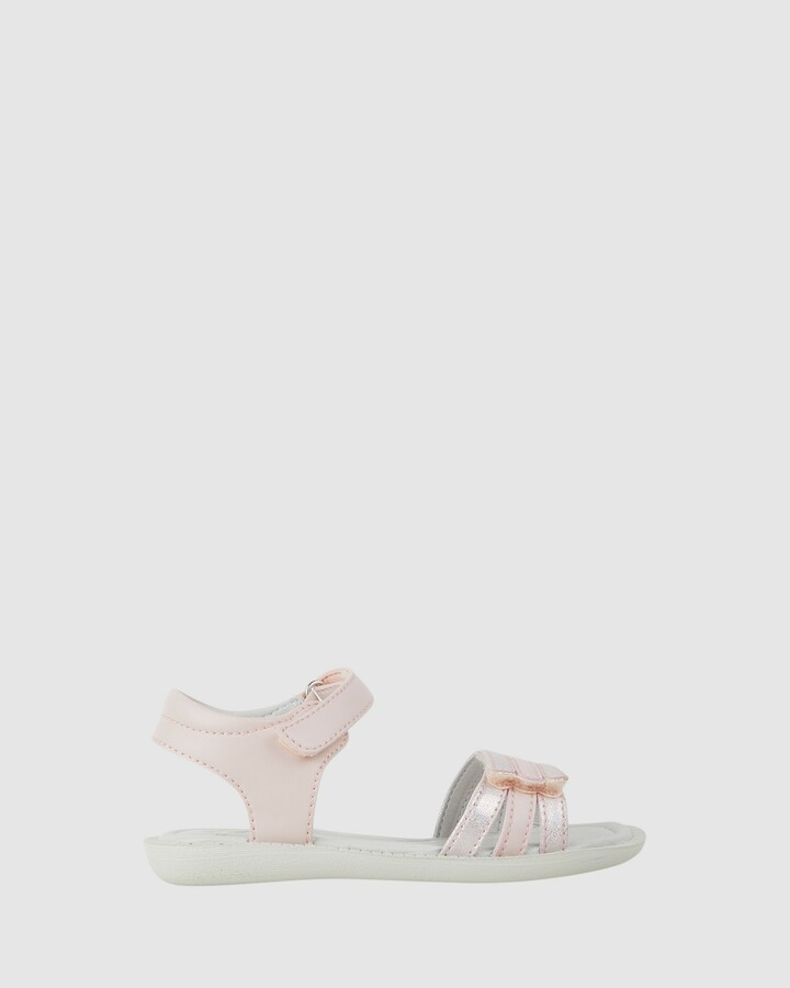Shoes and Sox Bali Straps Multicolour Yth Pink Combo