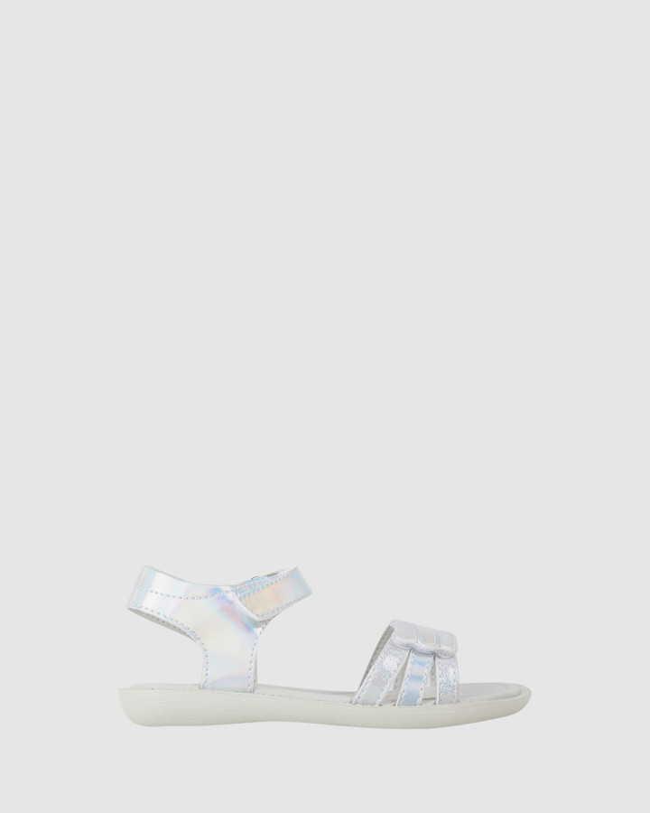Shoes and Sox Bali Straps Multicolour Yth Silver/Pink