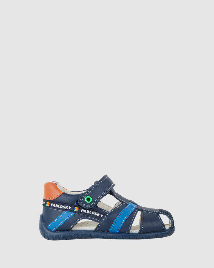 Shoes and Sox Cage Sandal B 070822 Inf Navy Multi