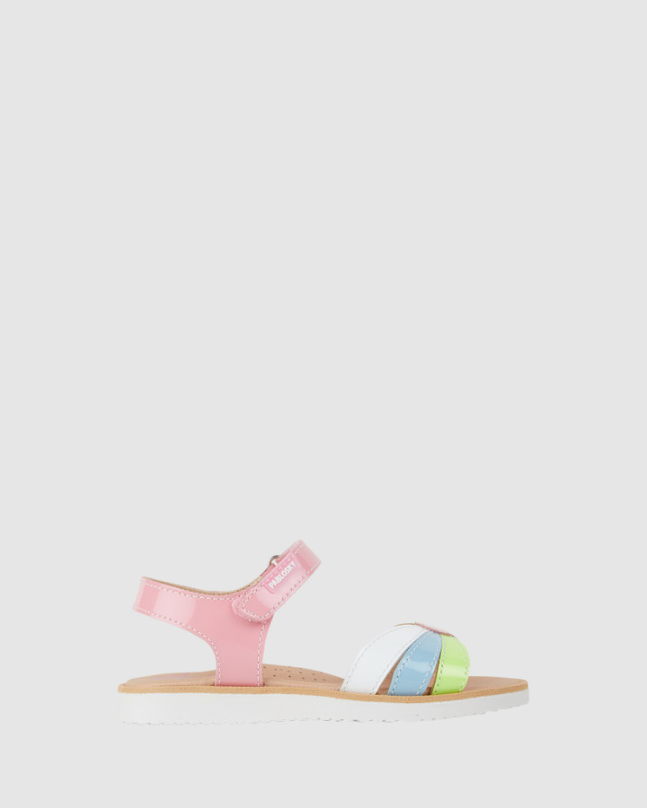 Shoes and Sox Flower Sandal G 487299 Yth Pink Multi
