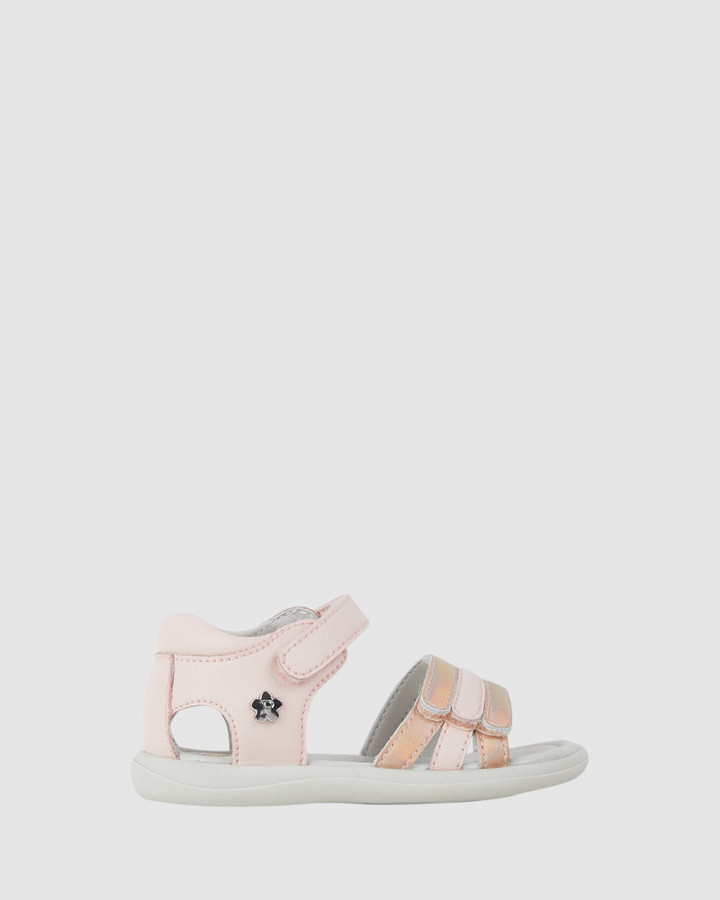 Shoes and Sox Jane Metallic Straps Inf G Nude Multi