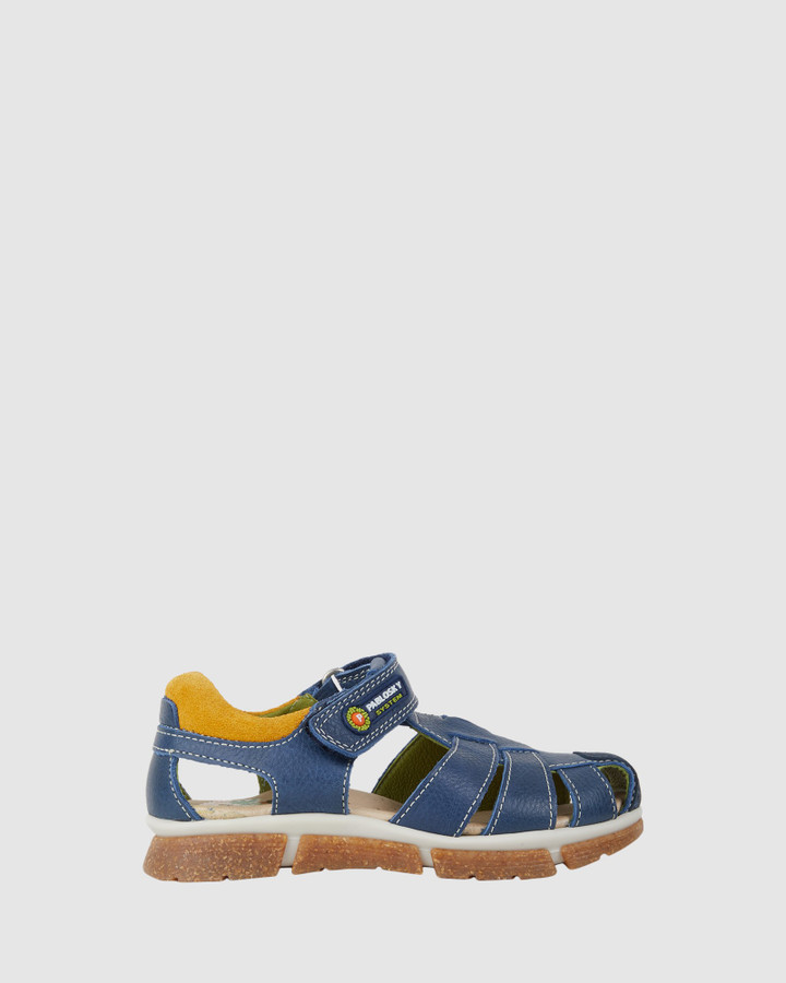 Shoes and Sox Cage Sandal B 594625 Yth Navy