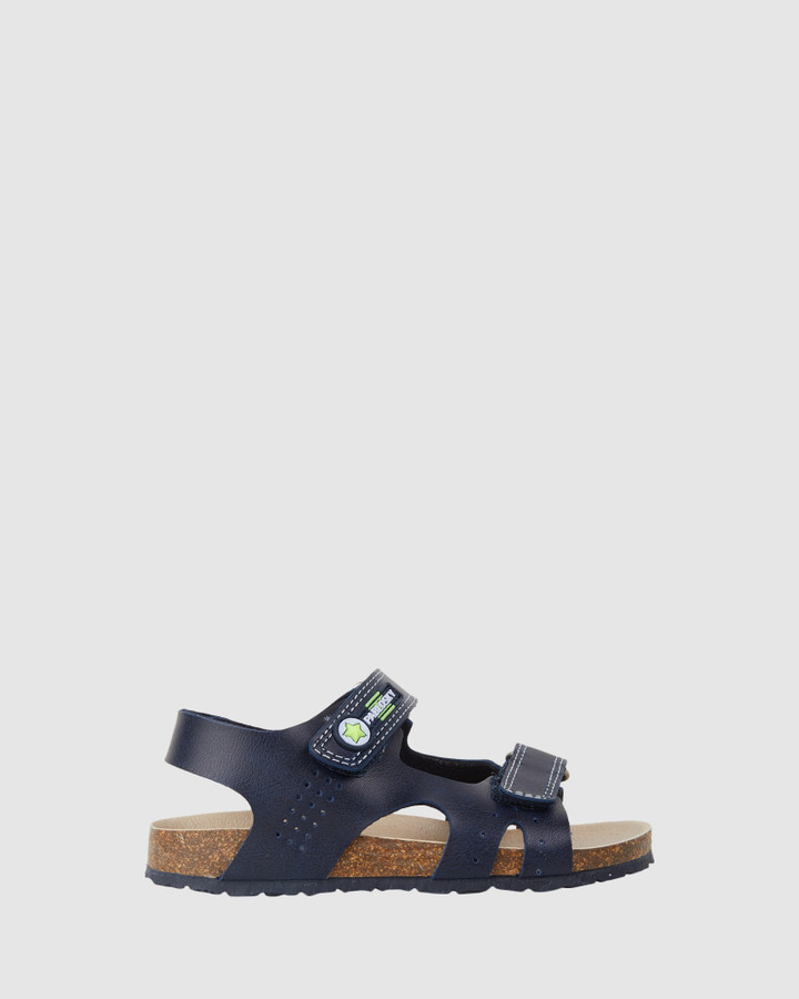 Shoes and Sox Open Sandal B 596820 Yth Navy/Lime