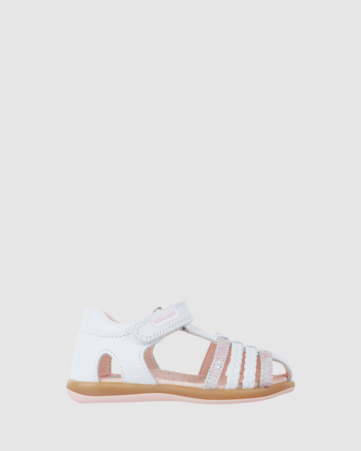 Shoes and Sox Plait Cage Sandal G 079307 Inf White/Pink