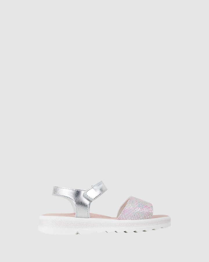 Shoes and Sox Snake Platform S G 477650 Yth Silver