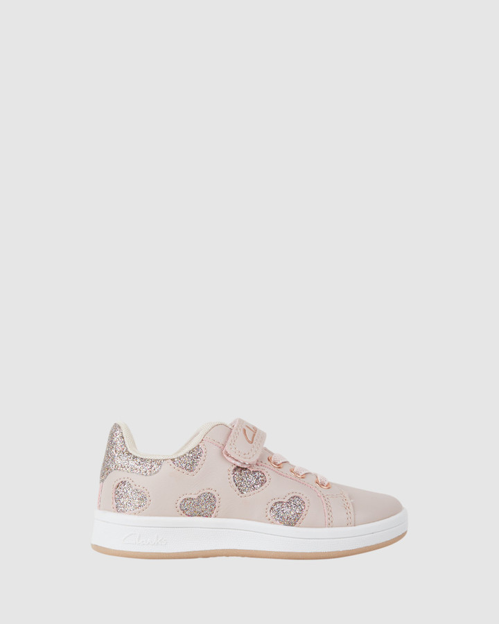 Shoes and Sox Dixie Jnr Sns Pink/Rose Gold E+