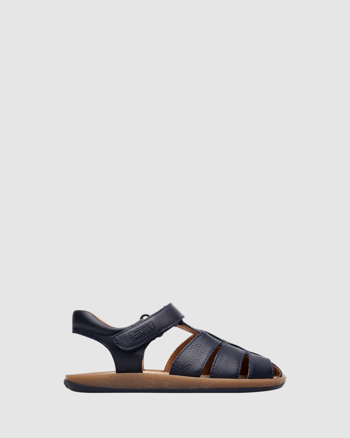 Shoes and Sox Bicho Cage Sandal B Yth Navy