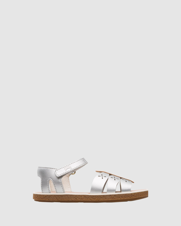 Shoes and Sox Twins Dragonfly Sandal Yth Silver