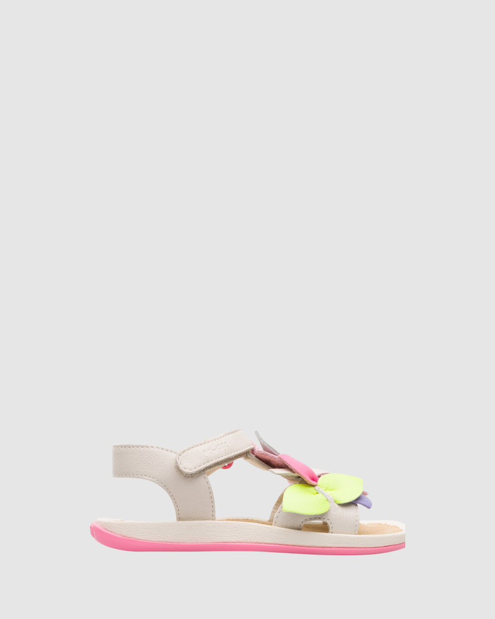 Shoes and Sox Twins Floral Sandal Yth Multi