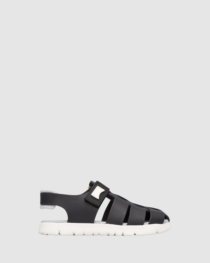 Shoes and Sox Oruga Sandal B Yth Black