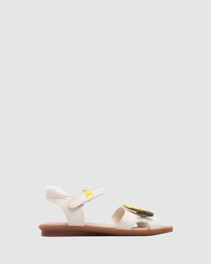 Shoes and Sox Twins Lady Beetle Sandal Yth Beige/Black/Yellow