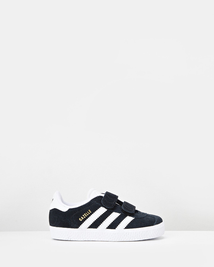 Shoes and Sox Gazelle Sf Strap Inf B Black/White
