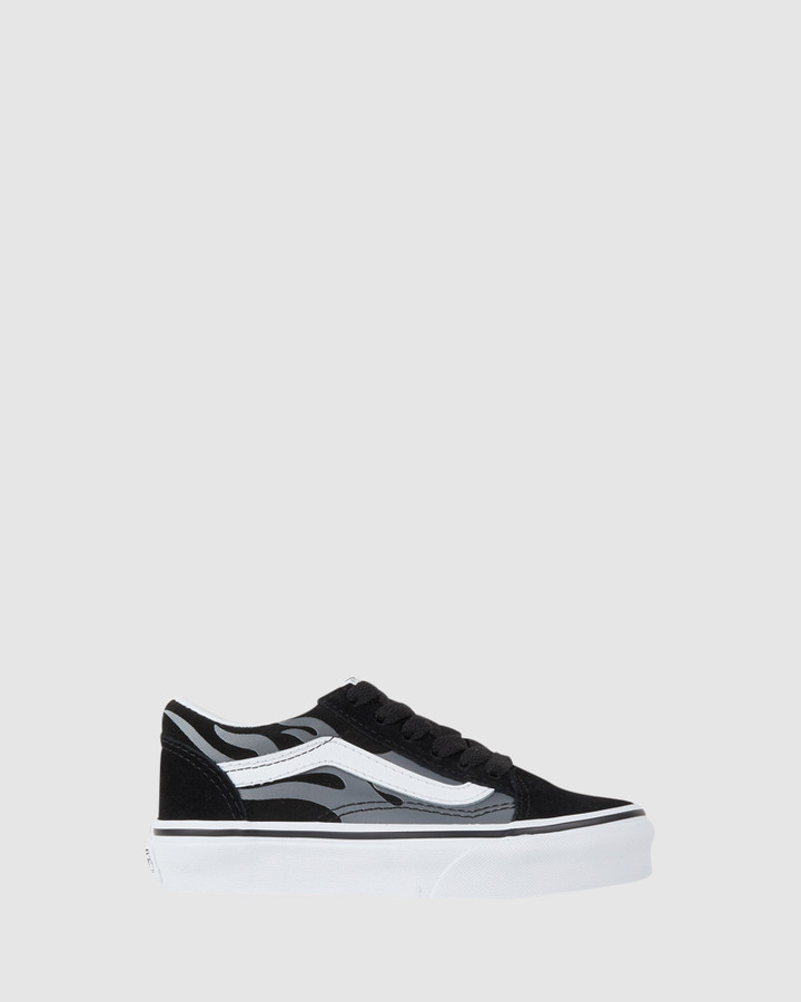Shoes and Sox Old Skool V Flame Yth Black/Grey