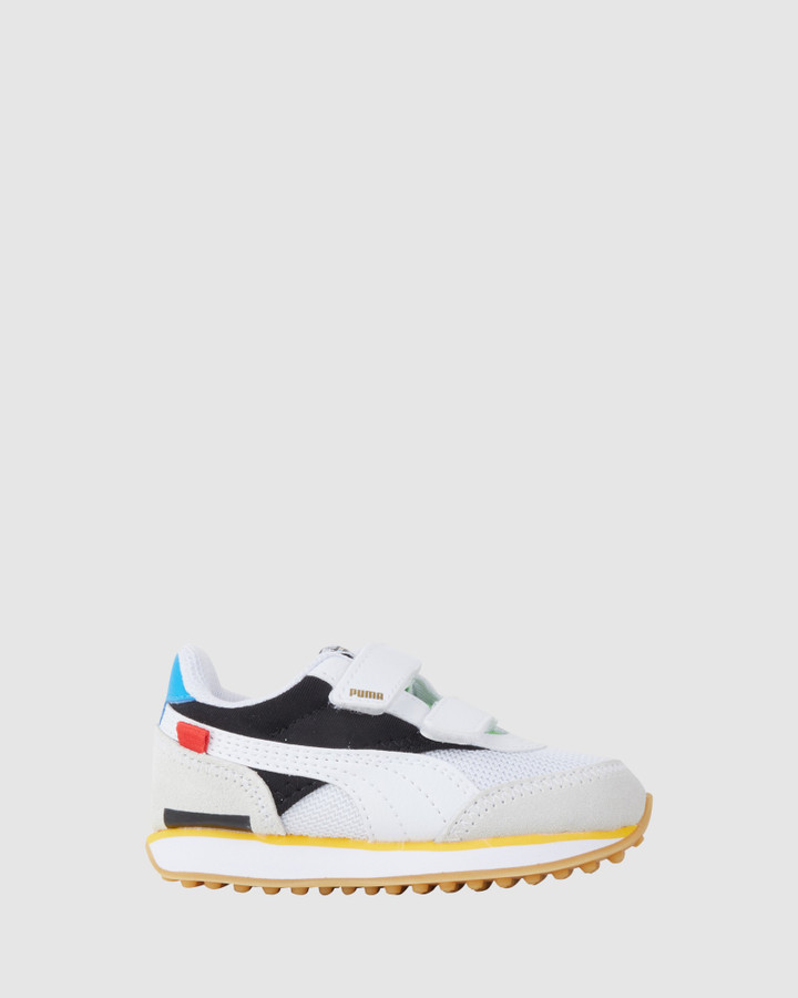 Shoes and Sox Future Rider Wh Inf White/Black