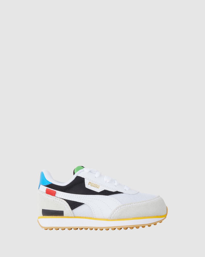 Shoes and Sox Future Rider Wh B White/Black