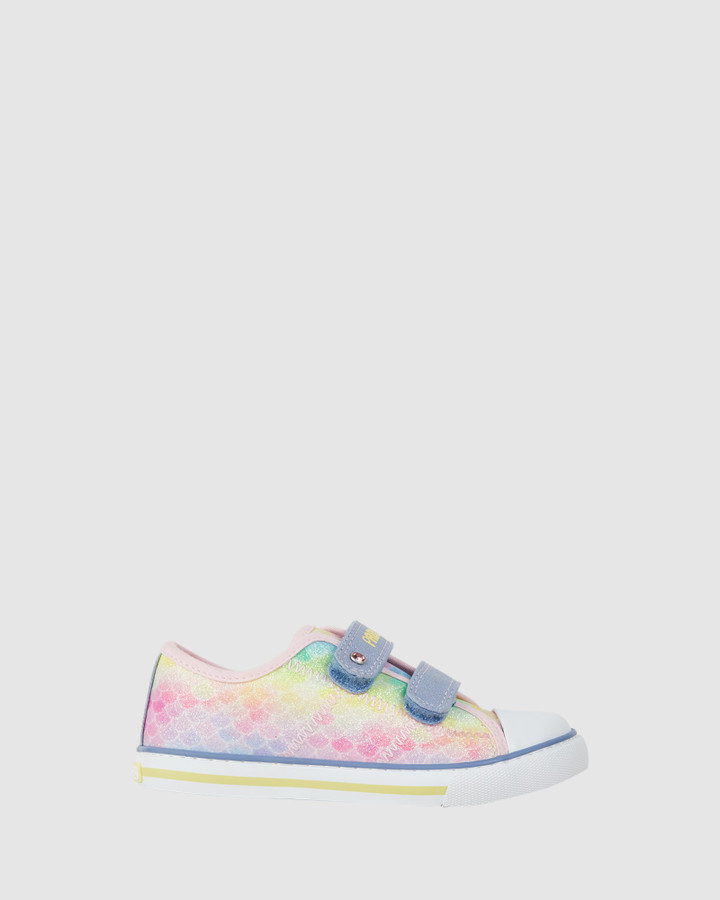 Shoes and Sox Mermaid Canvas Sf 962710 Yth Rainbow