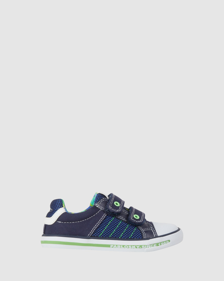 Shoes and Sox Stitches Canvas 9622 Yth Navy