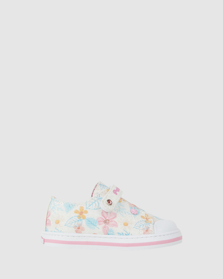 Shoes and Sox Floral Canvas Sf 9617 Inf White Multi