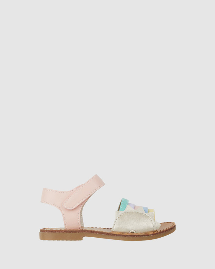 Shoes and Sox Roxie Sandal Pink